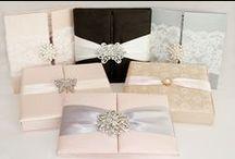 Lilian Designs Silk Invitations / Silk box and folio designs by Lilian Designs Studio.
