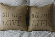 burlap...not just a sack anylonger / by gayle