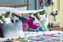 Bluebellgray AW14 Bedding Collection / This Autumn Winter bluebellgray presenting two new bedding designs bursting with signature pantry florals and abstract in vibrant watercolours. / by Fi Bluebellgray