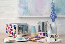 Breakfast the bluebellgray way / This exciting collaboration with the award winning and innovative Dualit features bluebellgray's best selling Abstract design. Breakfast just got colourful! / by Fi Bluebellgray