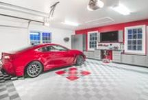Man Cave / A Man Cave will be as unique as the man that inhabits it. As a place for a man to enjoy his own pursuits, a Man Cave could have one theme or several combined. Add a custom garage floor as the finishing touch and he can move right in! Learn more at http://www.tailoredliving.com/garage-storage/.