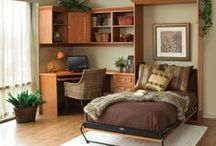 Dream Bedroom / A Tailored Living Murphy Bed can turn any room in your home into an instant guest room, providing comfort and exceptional style. It's like adding a room, but at a fraction of the cost! http://www.tailoredliving.com/murphy-bed/