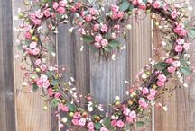 Rustic hearts / A collection of beautiful rustic style hearts and heart shaped objects