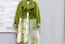 A upcycled jackets / Jackets made by modifying existing clothes into new fashions