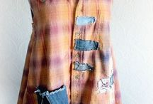 A upcycled tops / Women's tops made by modifying existing clothes into new fashions
