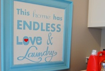 Laundry room / One of the most boring and easy chores...yet you hate to do it. Glam up that laundry room to make the chores easier on the eyes!