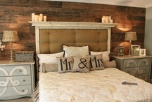 Bedroom / Cute head boards, awesome closets, and decor ideas...