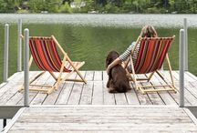 Lake Living / Cabins, comfy clothes, camp fires, and smore's oh my. / by Amy E. Nevells