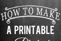 Printables / Clip art and other creative images, art, photos for printing to complete a DIY craft. Free printables, paid printable.