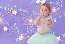 First Birthday Babes / First birthday portrait inspiration: cake smash, portrait sets, prop ideas, outfits, wardrobe.