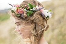 {BEAUTY} Bridal Hair & Floral Crowns / Belle & Bunty Bridal Hair Inspiration ~ Plaits, Flower Crowns, Braided Crowns, Unique Hair & Bohemian Vibes / by Belle & Bunty