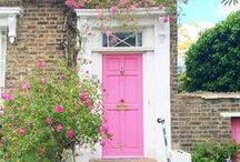 {INSPIRATION} London Doors / London Doors, Pink Doors, Pastel Houses, Neighborhoods, Pretty City London, London in Pink, Beautiful London, England