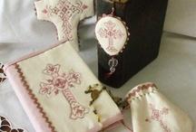 Cross stitch semi-kits by Barbi and Nina