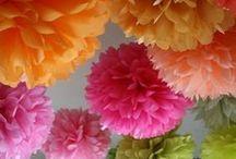 Tissue flowers / #tissuepaper #tissueflowers #wrappingtissuepaper / by AnGeL JoHnTiNg BrOwN