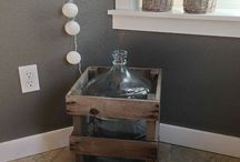 DemiJohn Wine Bottle & Crate
