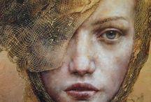 Art Portraits & People: PAINTINGS & DRAWINGS / Beautiful portraits!  / by Leslie Rhoades