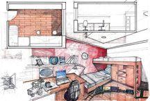 Dibujos arquitectónicos como referencia para la comunicación y el condicionamiento en el diseño.