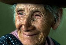 Faces touched by emotions / A face touched by life.