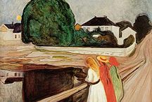Edvard Munch / A collection of his art. Edvard Munch was a Norwegian Artist - 1863-1944 - Painting and Graphic. Expressionism, Symbolism. Notable Work: The Scream, Madonna, The Sick Child. I was about 17 years when I became aware of Edvard Munch. He spoke directly and strongly to me from the first moment, and I have been attracted to, and have admired his art ever since. I myself struggle with anxiety and depression too and recognize these feelings in his works. I had the great joy of seing the big Munch Exhibition at Aros Art Museum in Aarhus, Denmark, where I live, at oct 2012 - feb 2013 with collected works from around the whole World.
