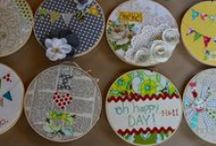 hoop art / embroidery, hoop art and other creative uses for embroidery hoops.