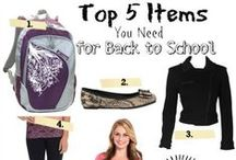 back to SCHOOL / Are you ready to head back to school? Complete your checklist with these must have back to school items