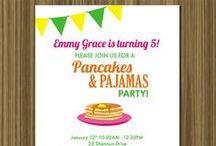 Pancakes & Pajamas 2nd Birthday Party