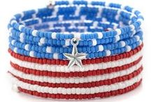 Red, White & Blue / Find the perfect jewelry or inspiration for this patriotic holiday. 4th of July will be more than just fireworks and bbq with these fun DIY projects!
