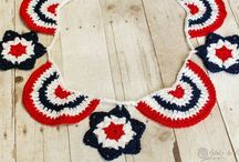 Crochet - U.S. Patriotic / by Petals to Picots Crochet