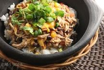 """Crockpot Recipes? Heck Yes! / """"I can't believe this was made in a crockpot"""" and """"My entire family loved this meal lets make it again"""" recipes. Because all of us need someone else doing the cooking once in a while.  / by Laura Fuentes/ MOMables.com"""