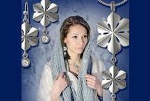 SNOWQUEEN / This beautiful piece of silver snowflake jewelry is presenting eternal beauty of snow and ice. www.taigakoru.fi