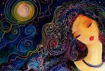 Goddess Art Inspiration / Goddess, color, mandala, Indian art, yoni, peacock, zentangle, circles, lotus. / by Talyaa Liera