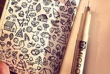 Zen Drawing, Doodle,... / D'autres images de dessin :) Voir l'article ici : http://thecutestlifeisnow.unblog.fr/2016/04/15/dessiner-contre-lennui/
