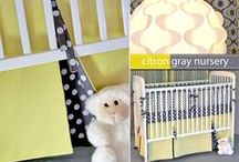 Sew4Home Baby Nursery 2 / Our exceptionally popular modern nursery series featuring Michael Miller Fabrics eye-catching Citron-Gray Color Story. Get all eight free tutorials at Sew4Home.com   / by Sew4Home