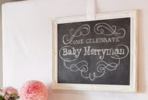 Chalkboard theme baby shower / by Life & Baby | Evelyn Reinson