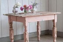 tables / vintage and upcyled tables. Lovely legs and table tops. / by Kiss Create Furniture