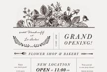 Invitations / Cards / Invitation and card design inspiration, graphic design, paper, printing