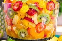 FOOD: Fruit Recipes / Easy fruit recipes such as fruit salad, dip, smoothies, appetizers, pizza, desserts, kabobs, salsa, and fruit tray ideas.
