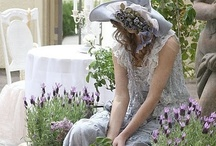 Lavender and Lace / Shades of purple; lavender; Provence; lace; objects and clothing in lavender and lilac; lilacs; clematis; wisteria; iris; pansies; lavender fields; growing lavender / by Pat Dorraj