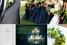 1. Wedding Theme: Opulence Ever After / Colors: emerald, midnight blue, light touches of glitter, white, black, pops of pinks in florals  Theme: Art deco / midnight soiree   Items: glittery lights, lucite and plexiglas, candles galore  Fun: girl DJ, art on the walls, sit with family / by Lauren Alyse