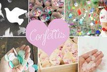 Crazy confetti for wedding / Des idées de confettis pour une sortie d'église réussie ! #confetti #wedding #mariage #poppers