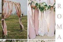 Les rubans: l'astuce déco / Pour décorer votre mariage avec douceur et légèreté. #ruban #ribbon #wedding #satin #lovengift #decomariage