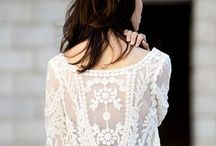 white, lacey things