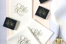 Monograms / Monogram designs for stationery, wedding and home