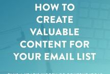 Email Marketing / email marketing tips, email strategy, email list growth, grow your email list, newsletter tips and strategies