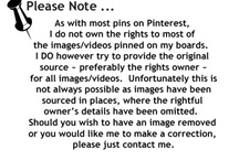 Disclaimer / Disclaimer for Pinterest pins and this account.