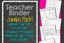 Teacher Forms - Teacher Binder - Lesson Planning / Links to teaching materials (like forms, permission slips, lesson planners, grade books, attendance books, emergency contact information forms, notes home, calendars, etc.) to make a teacher's life easier.
