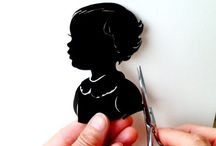 silhouettes / Modern and vintage antique silhouette