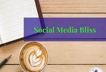 Social Media Bliss / Social media marketing for business, instagram, pinterest, facebook, twitter, social media marketing tips, marketing ideas