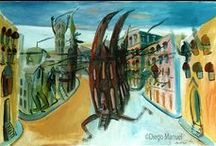 Serie Ciudades / Diego Manuel | Artist Painter Sculptor. Abstract Art Surrealism  Pop  Realism  / by Diego Manuel