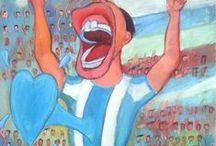 Futbol - Soccer / Diego Manuel | Artist Painter Sculptor. Abstract Art Surrealism  Pop  Realism  / by Diego Manuel